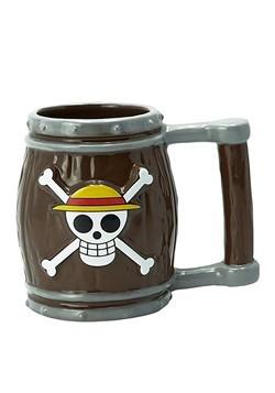 One Piece - Skull w/ Straw Hat 3D Barrel Mug