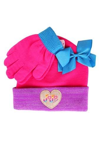 Jojo Siwa Kids Beanie with Bow and Gloves Set