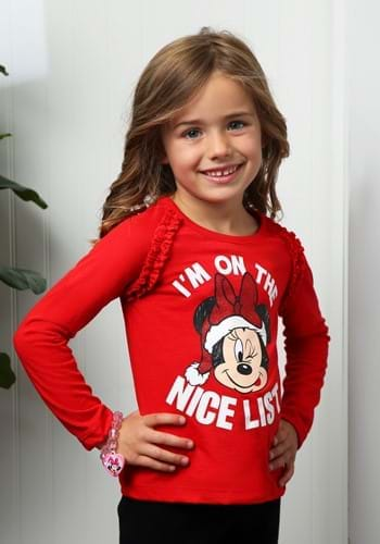 Minnie I'm on the Nice List Toddler Shirt-update