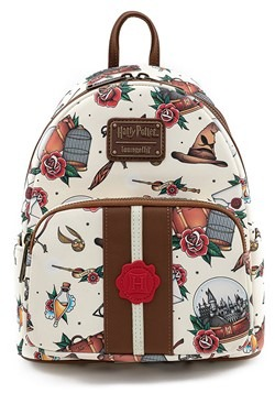 Loungefly Harry Potter Tattoo Art Mini Backpack