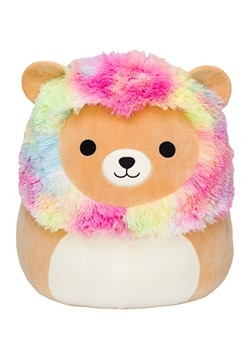 "Squishmallow 8"" Rainbow Mane Lion Stuffed Toy"