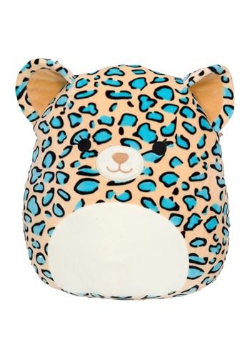 """Squishmallow 8"""" Teal Leopard Stuffed Toy"""