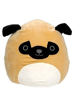 "Squishmallow 8"" Pug Dog Plush Toy"