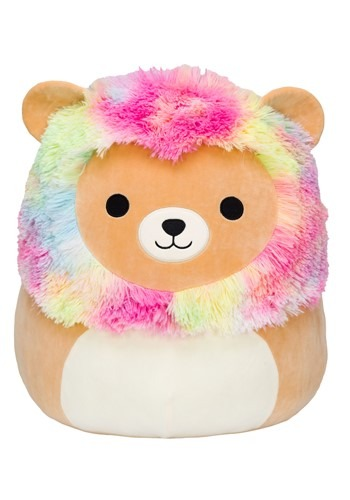 "Squishmallow 12"" Rainbow Mane Lion Stuffed Toy"