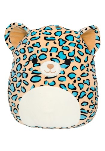 """Squishmallow 12"""" Teal Leopard Stuffed Toy"""