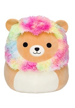 "Squishmallow 16"" Rainbow Mane Lion Stuffed Toy"