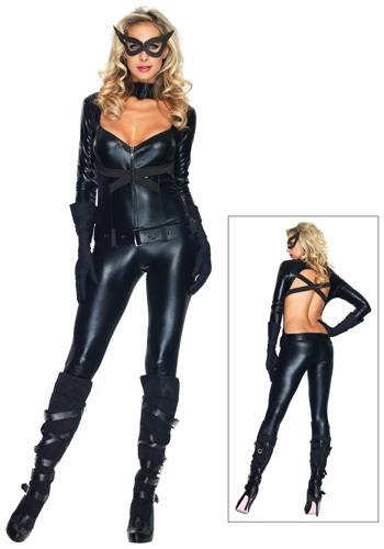 Women's Black Cat Girl Costume