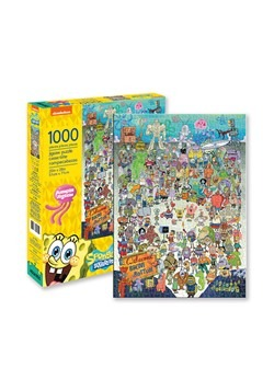 SpongeBob - Cast 1000 Piece Puzzle