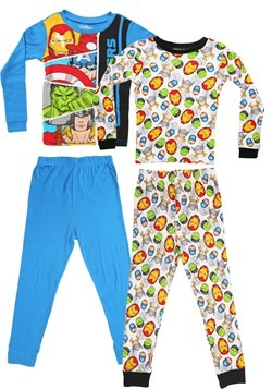 Marvel Avengers 4 Piece Sleepwear Set