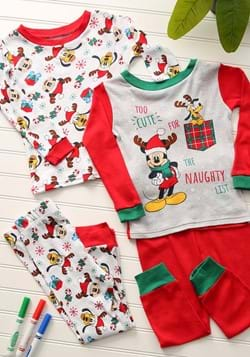 Toddler Holiday Mickey 4 Piece Sleepwear Set Main UPD
