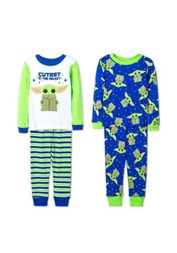 Toddler Baby Yoda 4 Piece Sleepwear Set