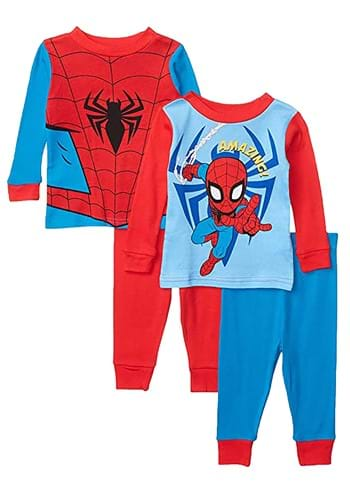 Toddler Spiderman 4 Piece Sleepwear Set