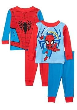Toddler Spiderman 4 Piece Sleepwear Set