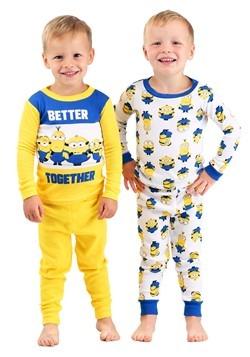 Toddler Minions 4 Piece Sleepwear Set