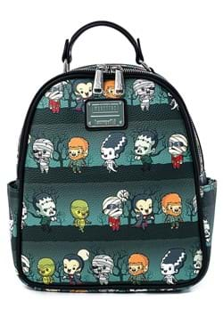 Loungefly Universal Monsters Chibi AOP Mini Backpack
