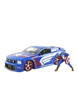 2006 Ford Mustang GT w/ Captain America 1:24 Scale Die Cast