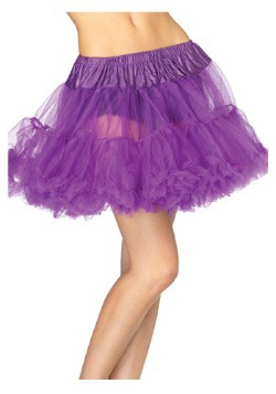 Purple Tulle Petticoat for Women