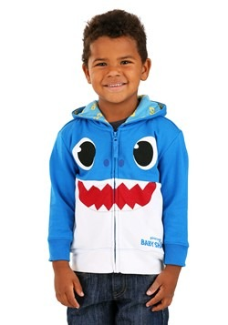 Toddler Blue Baby Shark Costume Hoodie