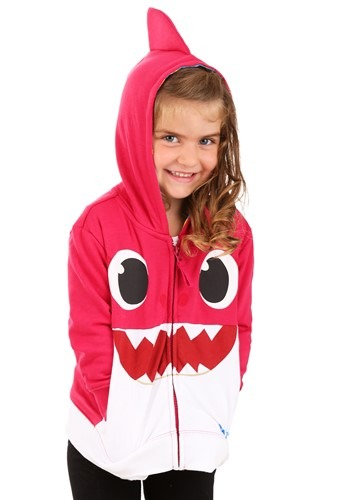 Toddler Pink Baby Shark Costume Hoodie-update