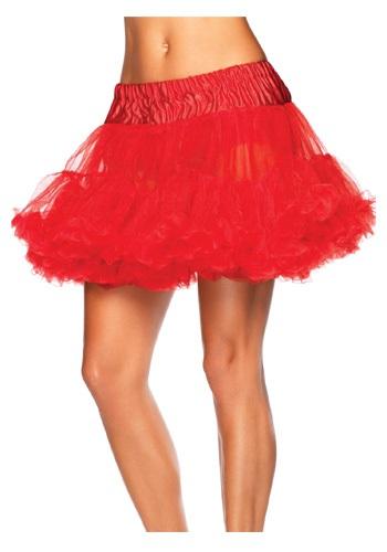 Women's Red Tulle Plus Size Petticoat