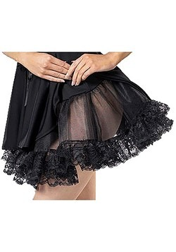 Womens Black Lace Petticoat