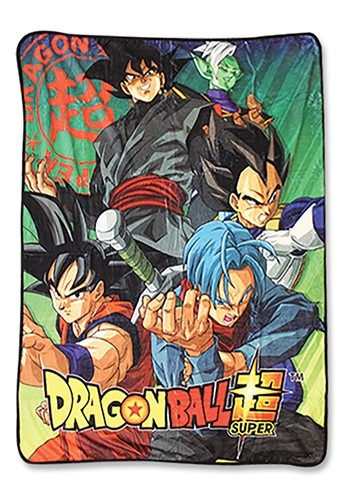 DRAGON BALL Z - GROUP 5 SUBLIMATED THROW BLANKET