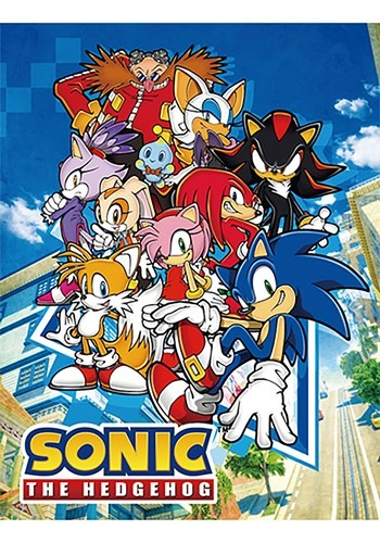 SONIC THE HEDGEHOG - BIG GROUP SUBLIMATION THROW