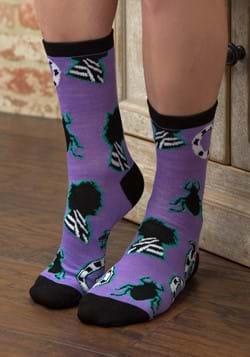 Women's Purple Beetlejuice Crew Socks-1