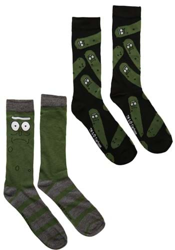 Mens 2 Pack Pickle Rick Crew Sock Update 2