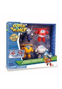 "Super Wings Transformer Character 5"" 4 Pack"