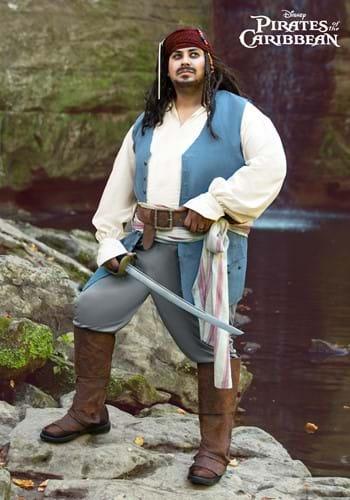 Plus Adult Captain Jack Sparrow Costume-2