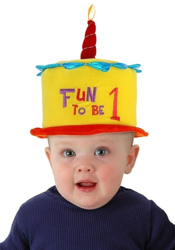 Toddler Fun to be One Birthday Cake Hat