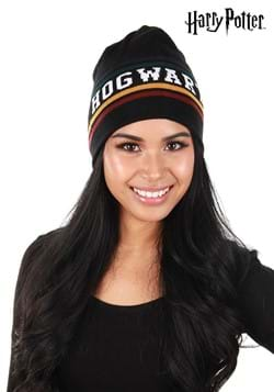 Black Hogwarts Reversible Knit Beanie