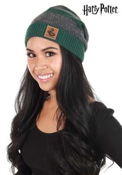 Slytherin Heathered Green Knit Beanie