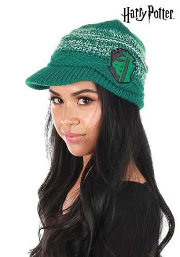 Knit Slytherin Brim Cap