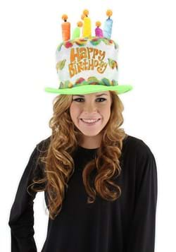 Rainbow Birthday Cake Plush Hat for Adults