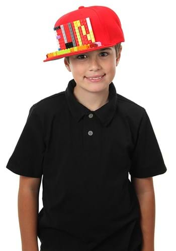 Bricky Blocks Red Snapback Hat Upd