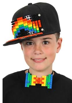 Bricky Blocks Black Snapback Hat Main UPD