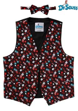 The Cat in the Hat Pattern Vest & Bow Tie Kit