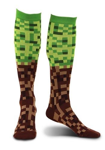 Pixel Brick Knee-High Socks Main