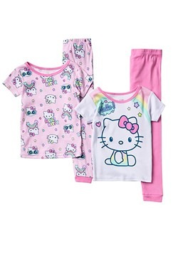 Toddler Hello Kitty 4 Piece Sleep Set