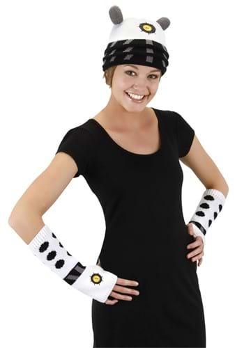 Dalek Knit Arm Warmers White