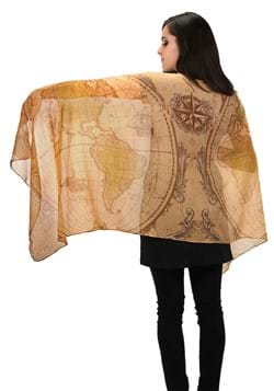Lightweight Scarf - Ye Olde World Map