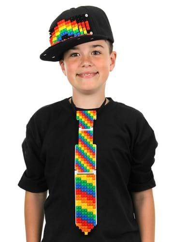 Bricky Blocks Necktie White