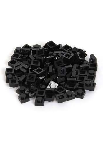 Brick Blocks 100 Pieces 1x1 Black