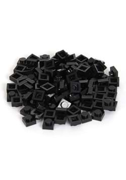 Brick Blocks 100 Pieces 1x1 Black