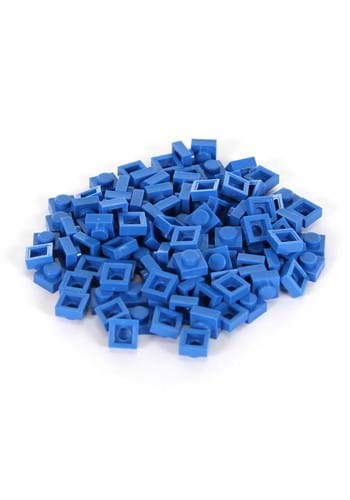 Bricky Blocks 100 Pieces 1x1 Blue