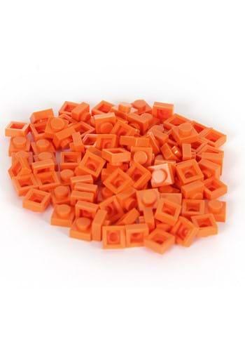 Bricky Blocks 100 1x1 Orange Pieces
