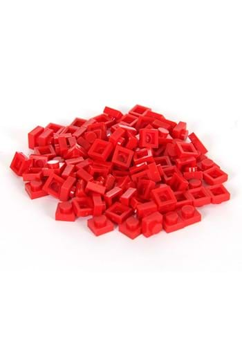 Bricky Blocks 100 1x1 Red Pieces