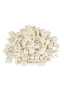White Bricky Blocks 1x1 100 Pieces